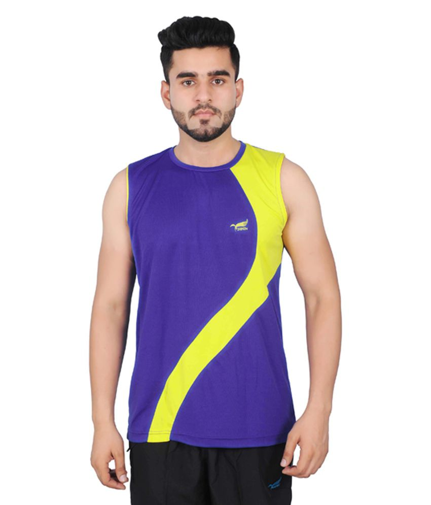 NNN Royal Blue Sleeveless Dry Fit Men's T-shirt