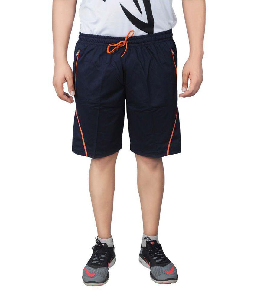 NNN Navy Blue Knee Length Dry Fit Men's Shorts