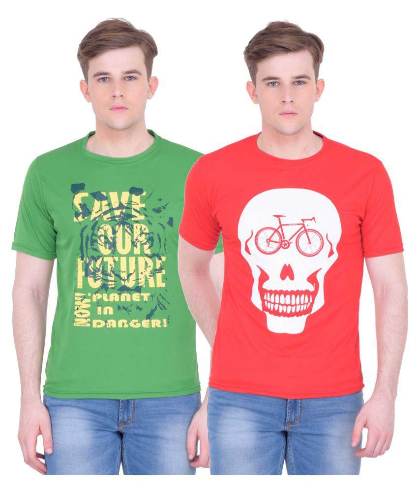 Superjoy Multi Round T-Shirt Pack of 2
