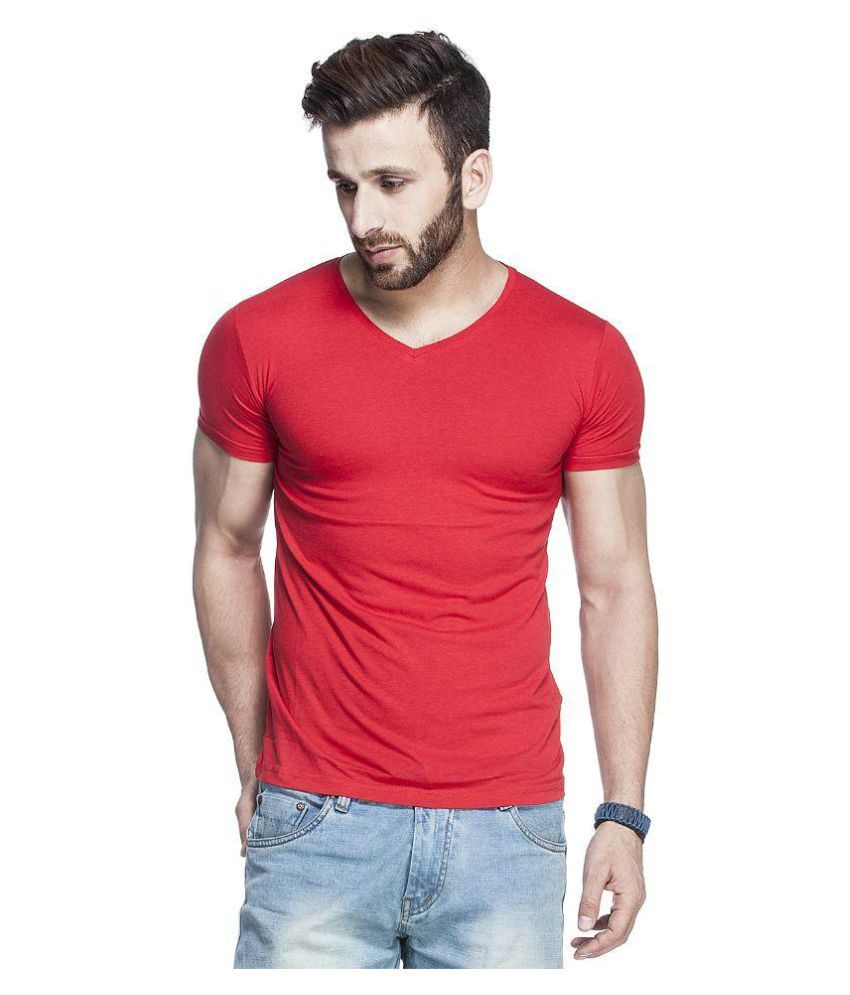 Tinted Red V-Neck T-Shirt