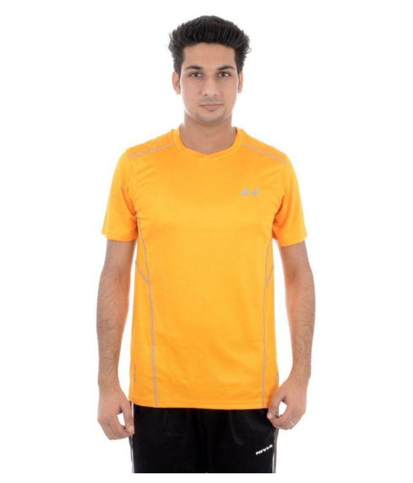 Nivia Yellow Round T-Shirt