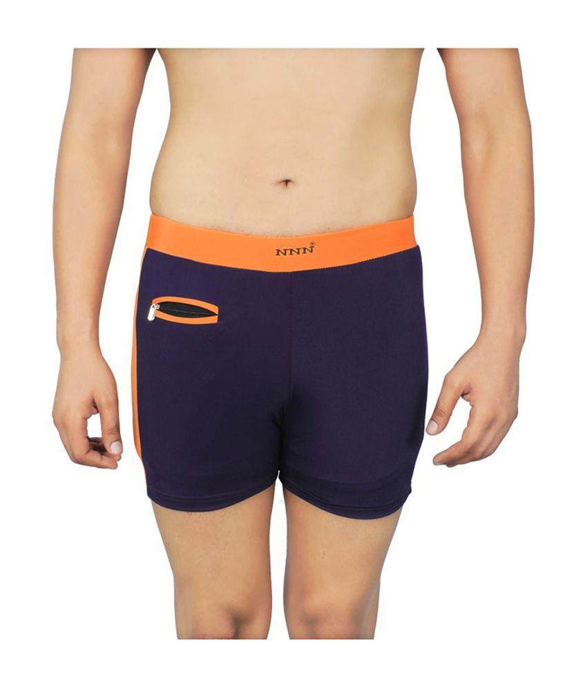 NNN Navy Blue Lycra Men's Swimming Trunk/ Swimming Costume