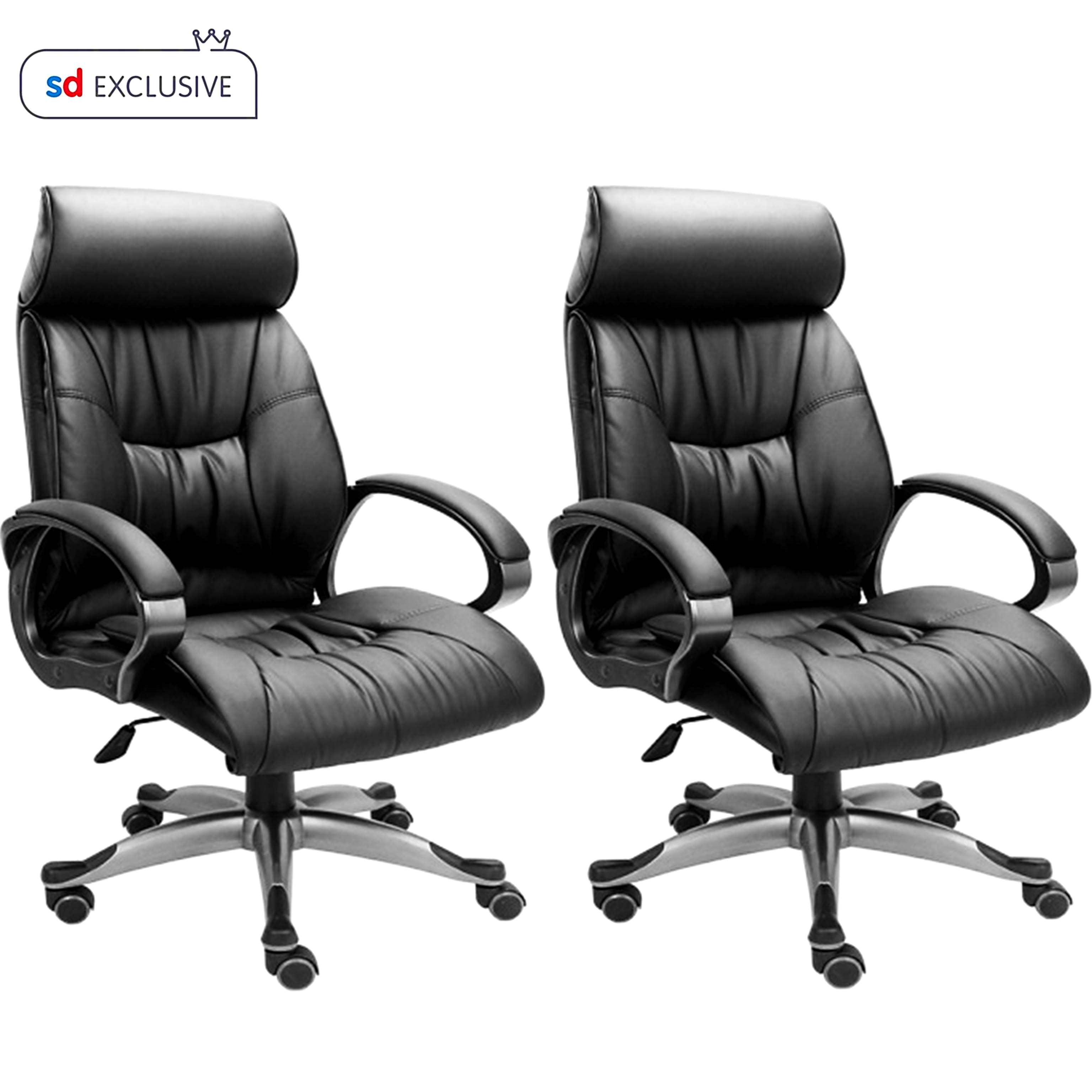 Buy 1 High Back Leatherette fice Chair Get 1 Free Buy