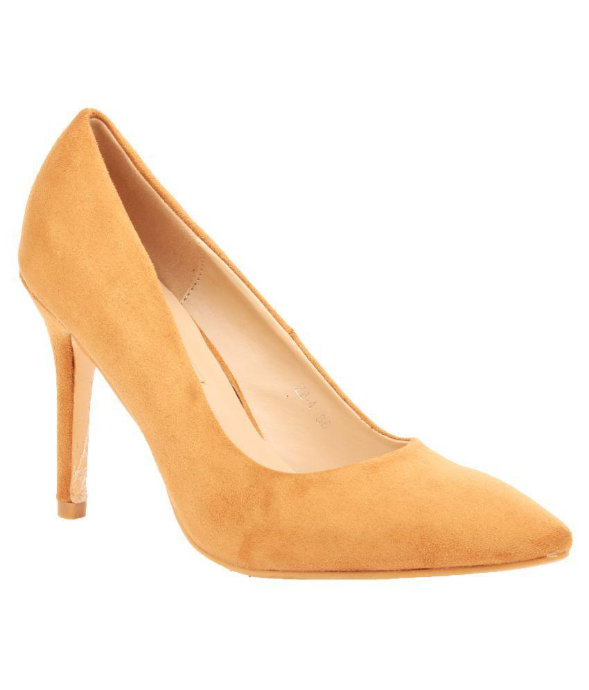 Foot Candy Beige Stiletto Heels