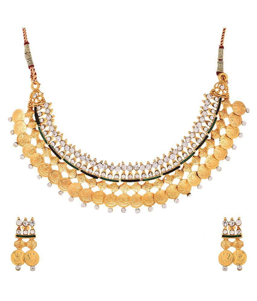 Zeneme Golden Necklace Set