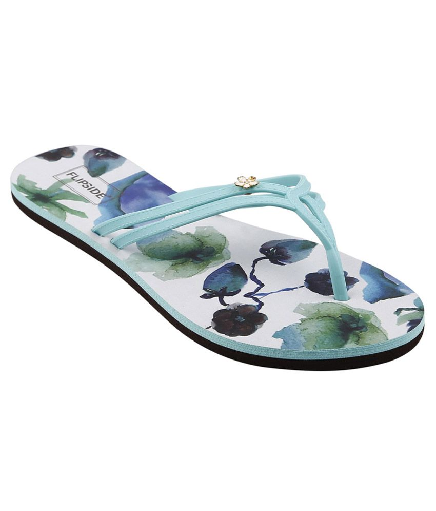 Flipside Womens Orchid Turquoise Slippers