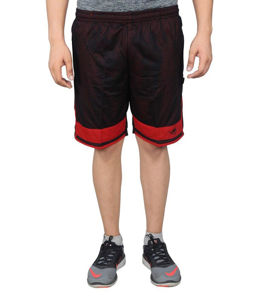 NNN Black Knee Length Dry Fit Men's Shorts
