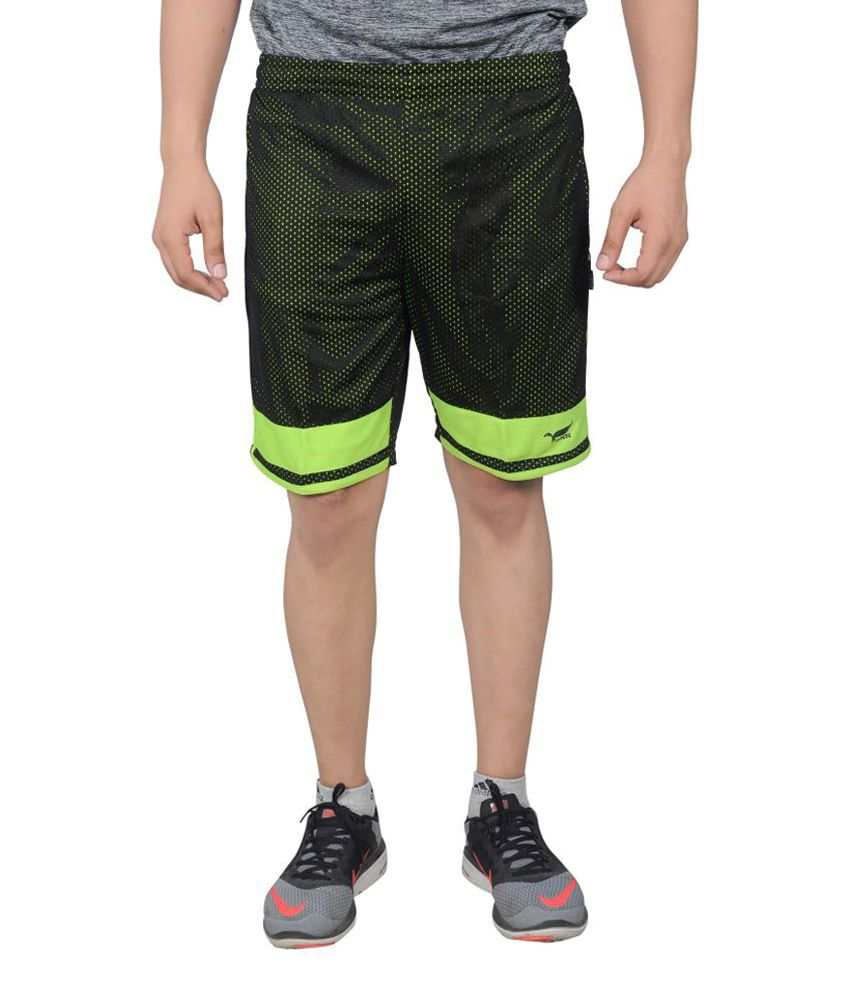 NNN Green Knee Length Dry Fit Men's Shorts