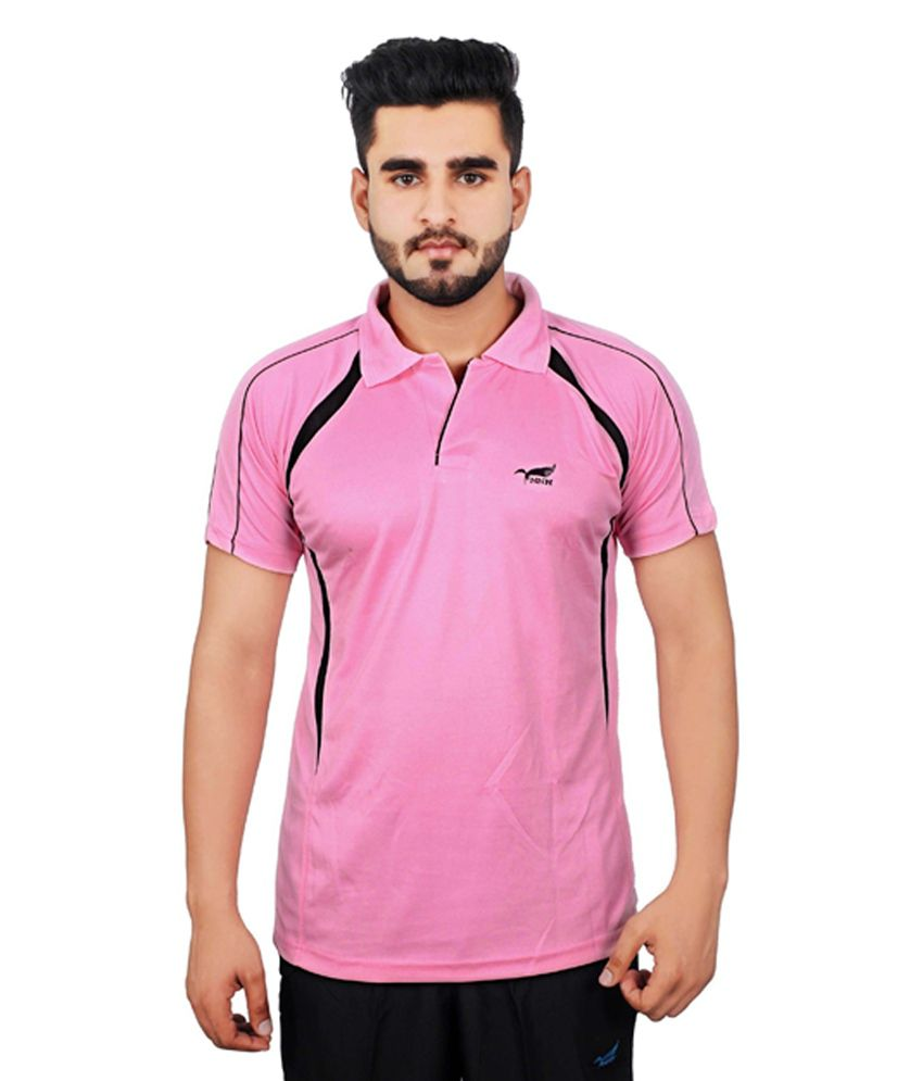 NNN Pink Half Sleeves Dry Fit Men's T-shirt
