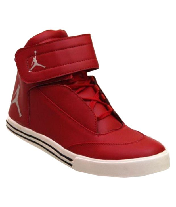 ... Buy K S Collections High Ankle Jordan Sneakers Red Casual Shoes Online