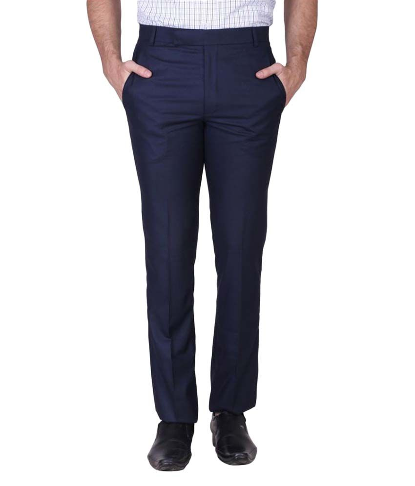 Minditdaddy Blue Slim Flat Trouser