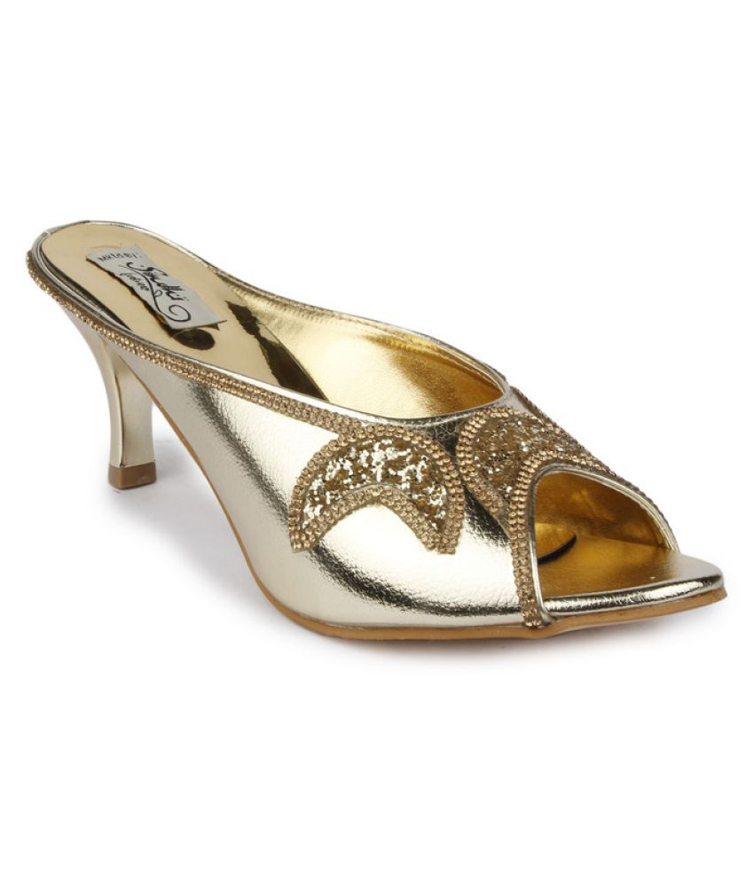 Sindhi Footwear Gold Stiletto Heels