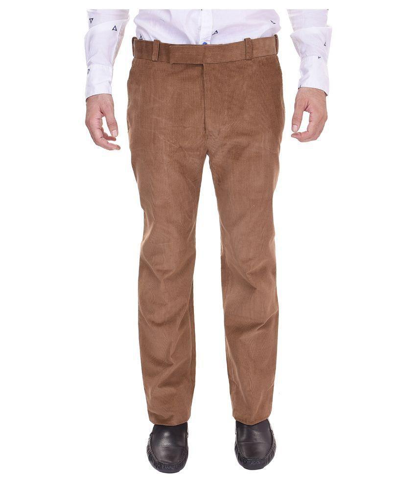 Trisera Brown Slim Flat Trouser