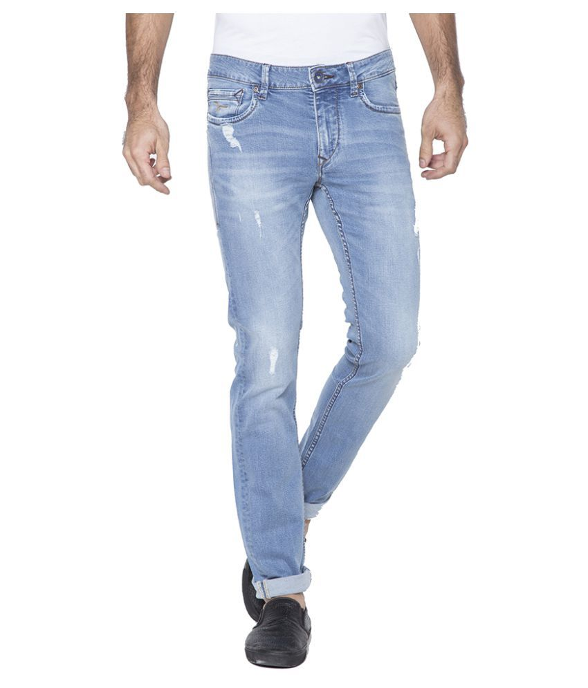 Flying Machine Light Blue Skinny Solid