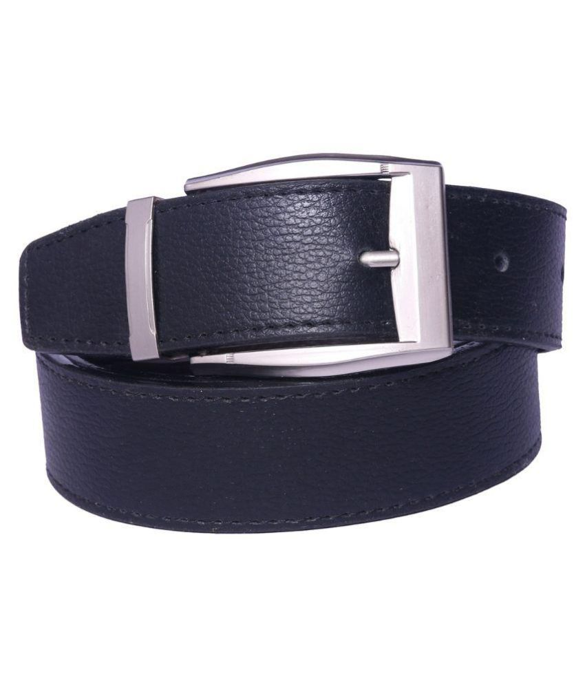 Master Club Black Faux Leather Casual Belts
