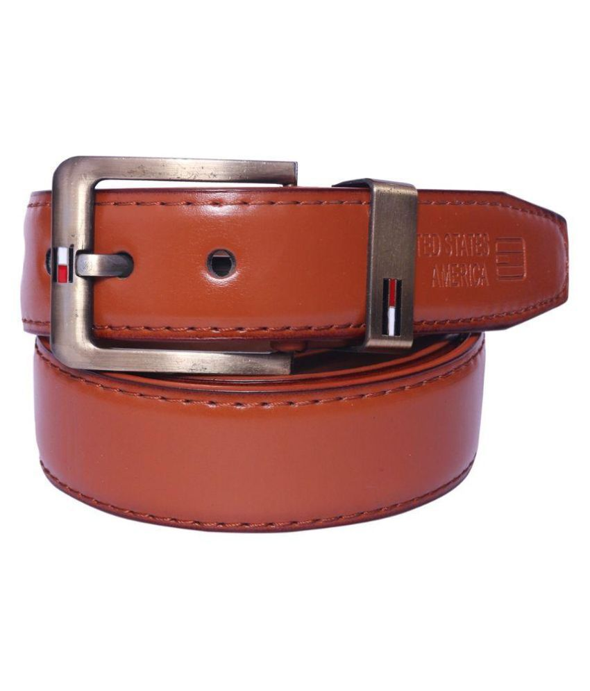Master Club Brown Faux Leather Casual Belts