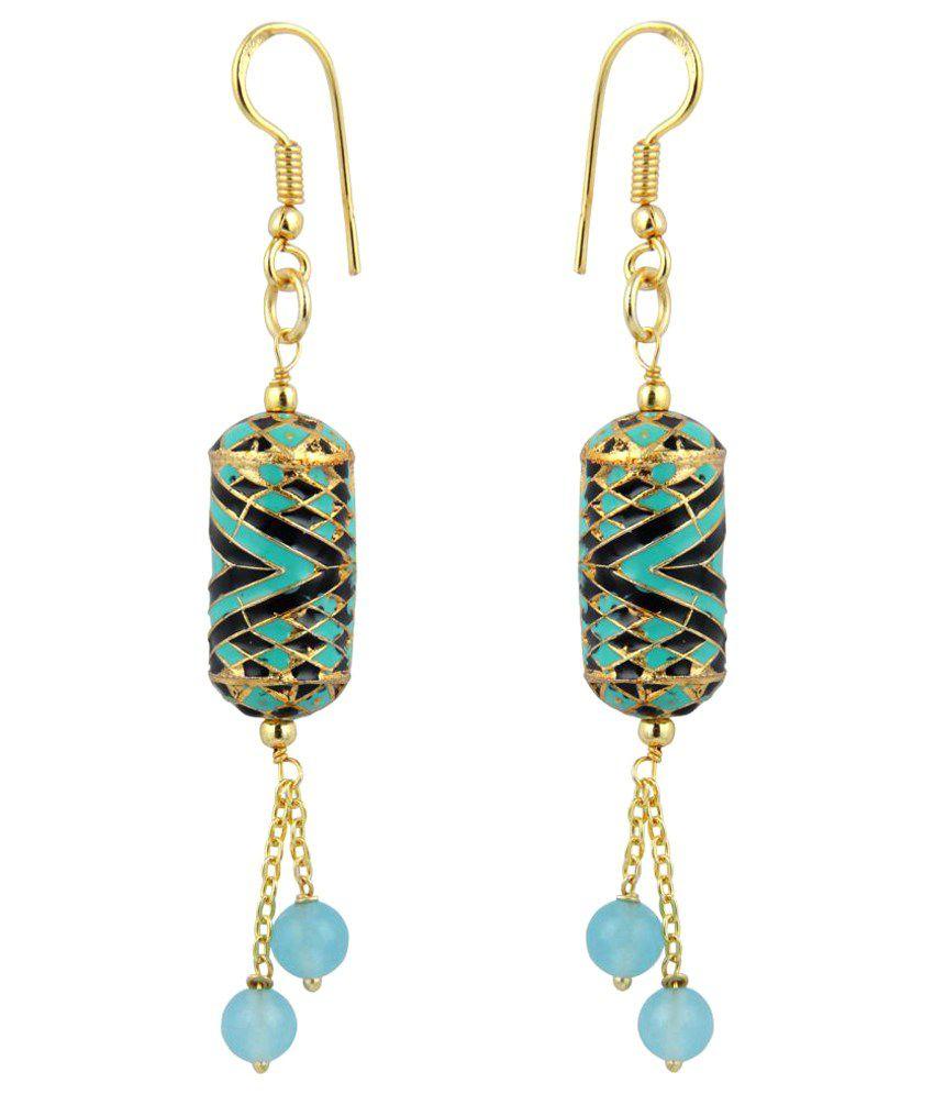Pearlz Ocean Multicolour Hanging Earrings