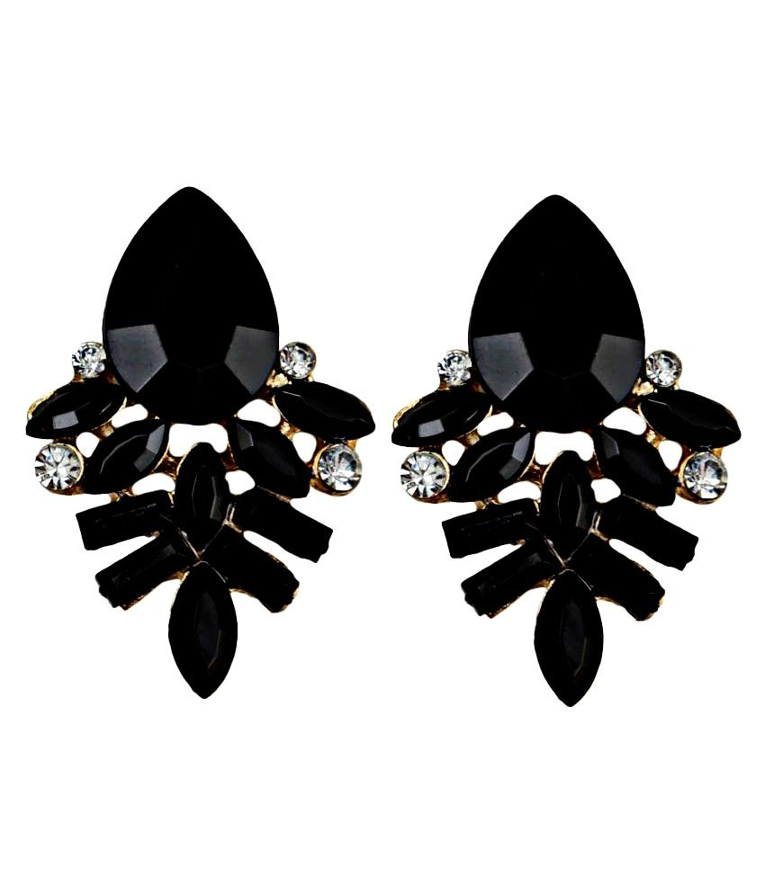 Taj Pearl Black Drop Earrings