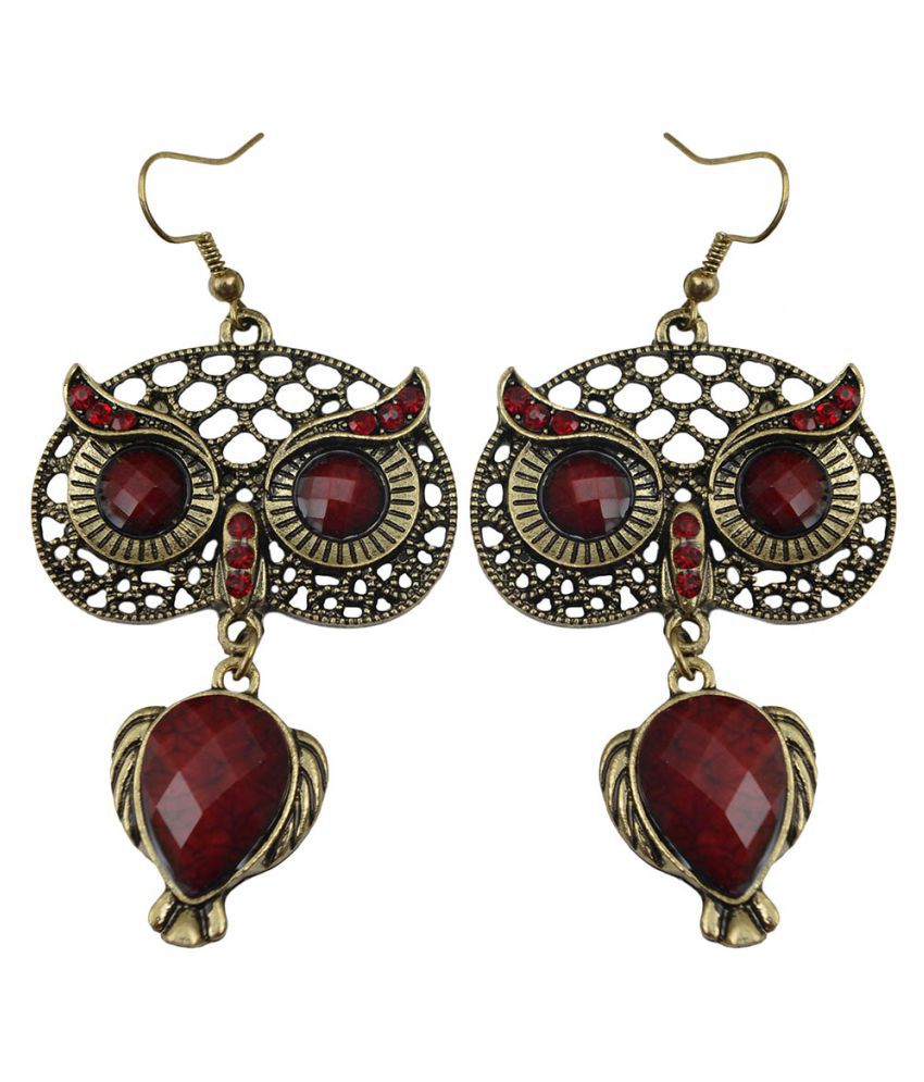 Taj Pearl Multicolour Hanging Earrings