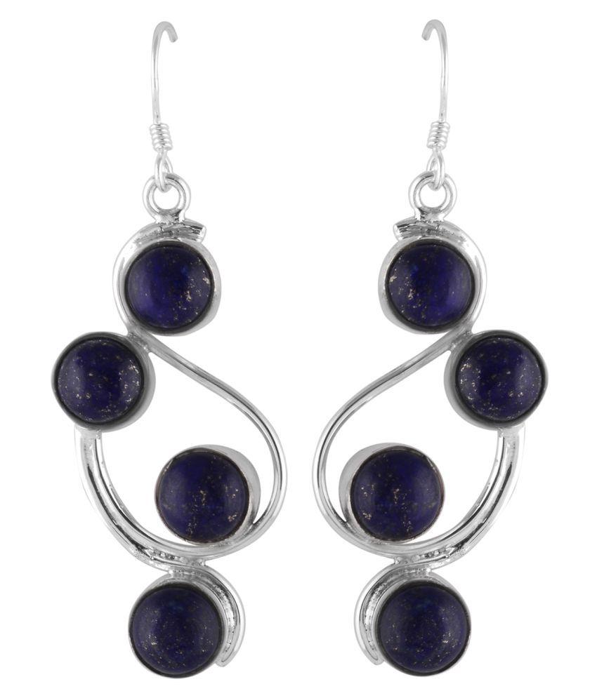 Zivah 92.5 Silver Lapiz Lazuli Hangings