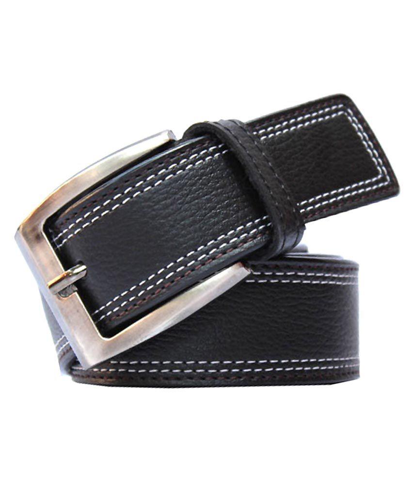 Bacchus Black PU Formal Belts