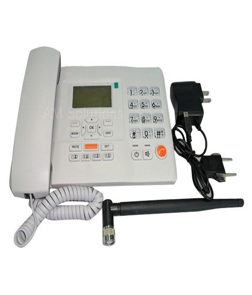 Huawei f501 gsm wireless landline phone any type of gsm sim cards fwp - Huawei F501 Wireless Gsm Landline Phone White