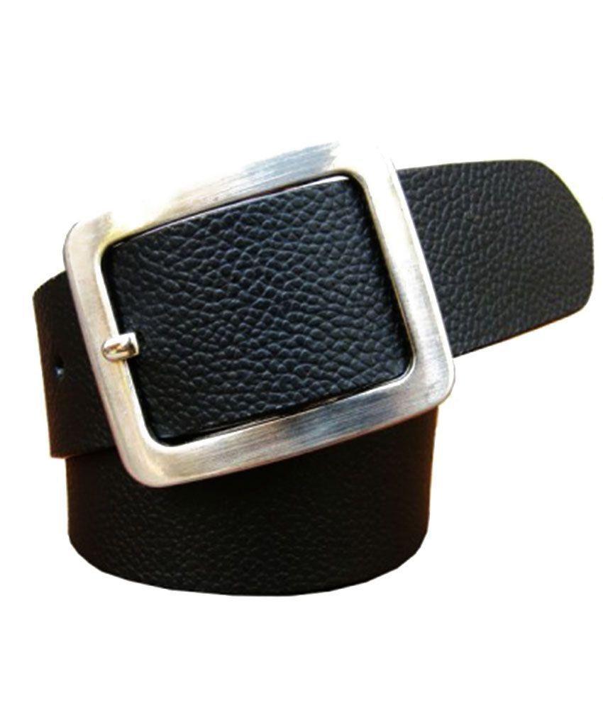 Winsome Deal Black Leather Formal Belts