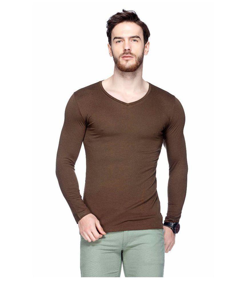 Tinted Brown V-Neck T-Shirt