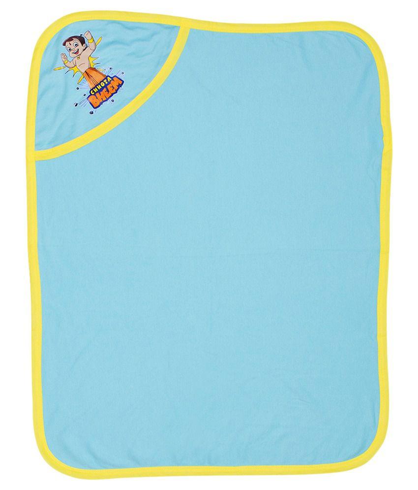 Chhota Bheem Blue Cotton Baby Wrapper