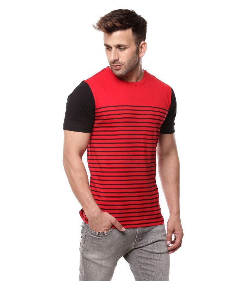 Gritstones Red Round T-Shirt