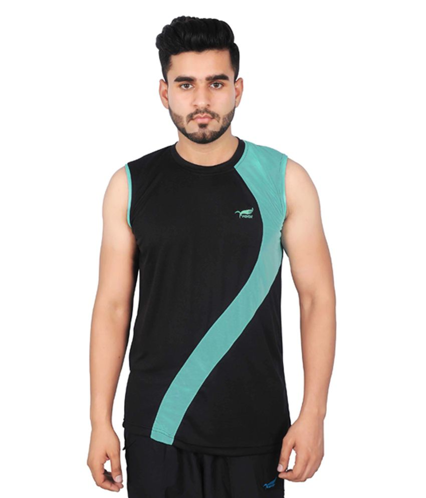 NNN Black Sleeveless Dry Fit Men's T-shirt