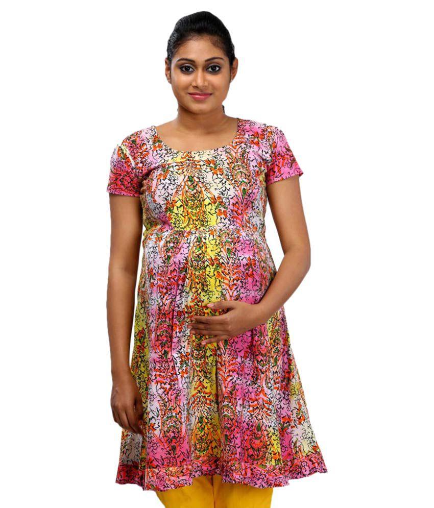 6cdc84b3b7d13 Ziva Maternity Wear Multi Color Cotton Kurtis Price in India | Buy Ziva  Maternity Wear Multi Color Cotton Kurtis Online - Gludo.com