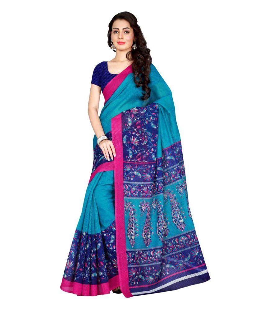 Vkaran Multicoloured Art Silk Saree
