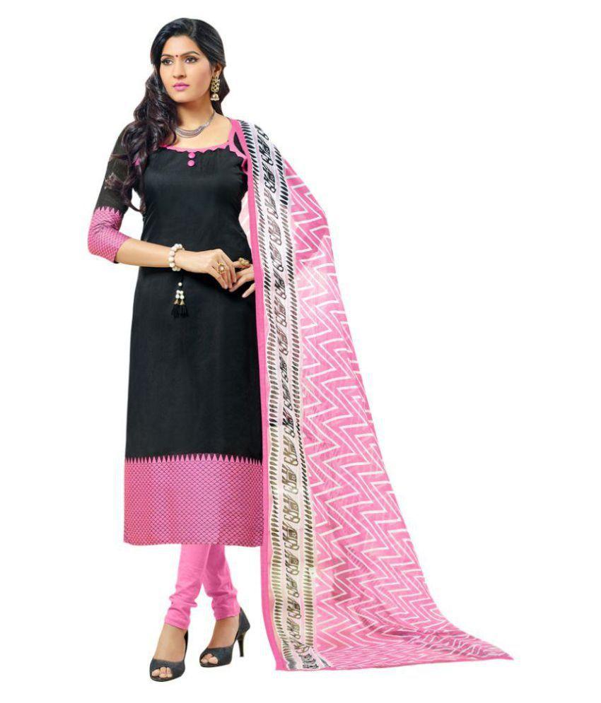 65f53da04c shelina Pink and Black Banarasi Silk Dress Material - Buy shelina Pink and  Black Banarasi Silk Dress Material Online at Best Prices in India on  Snapdeal