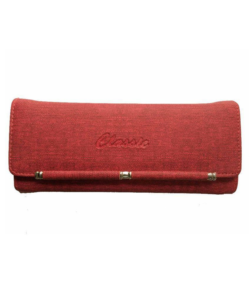 Alive Red Faux Leather Box Clutch