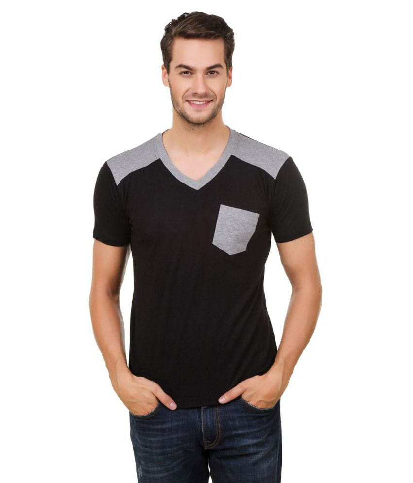 Hue Zephyr Black V-Neck T-Shirt
