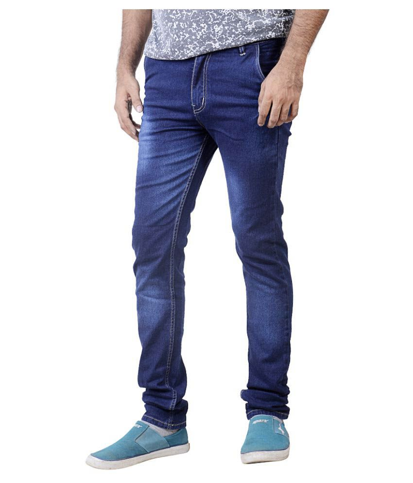 Tim Robbins Blue Slim Washed Jeans
