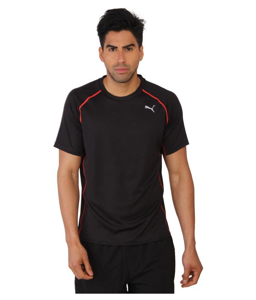 Puma Black Polyster Men T-Shirt