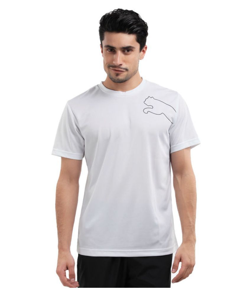Puma White Polyster Men T Shirt