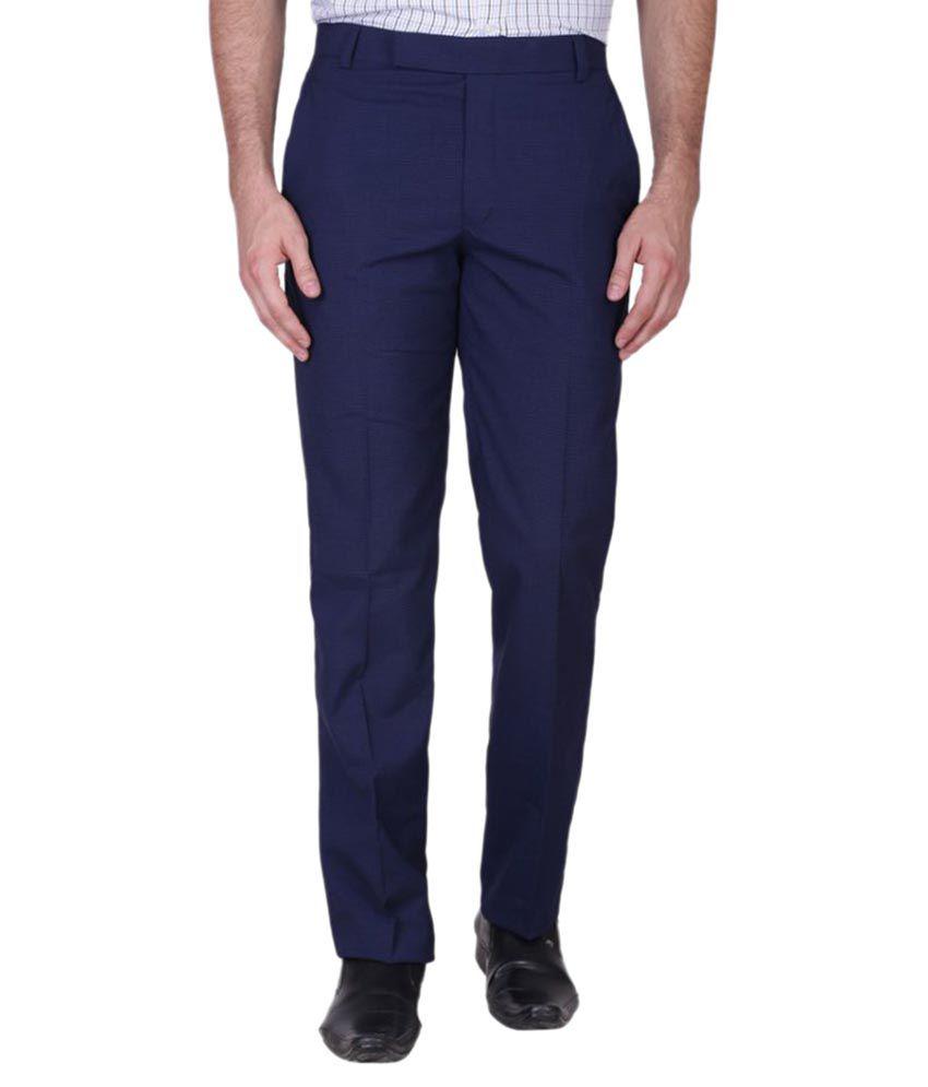 Minditdaddy Blue Slim Flat Trouser