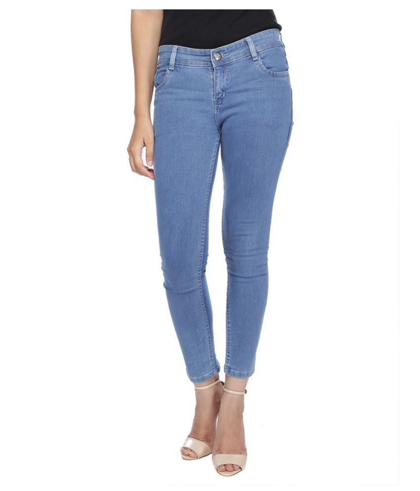 28800c611528bc Buy Wavelength Blue Denim Jeans Online at Best Prices in India ...