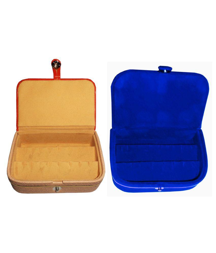 Abhinidi Multicolour Wooden Jewellary Boxes - Set of 2