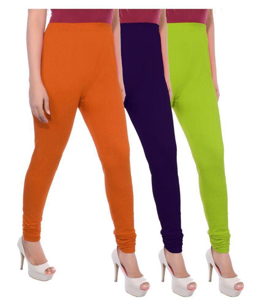 Apple Knitt Wear Cotton Lycra Pack of 3 Leggings