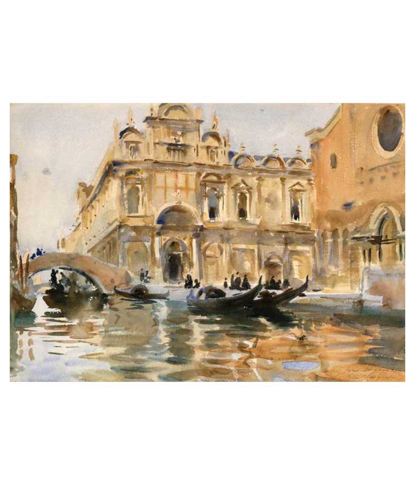 Tallenge Rio Dei Mendicanti Venice by John Singer Sargent Canvas Art Prints Without Frame Single Piece