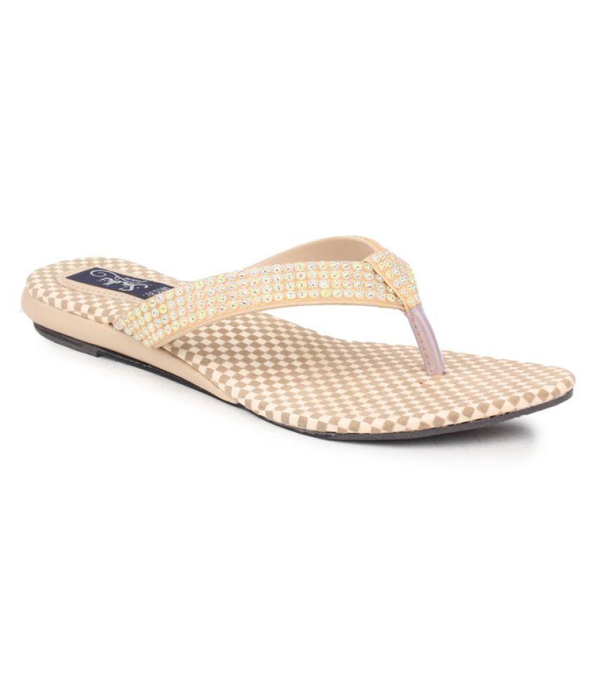 Sindhi Footwear Beige Wedges Flats