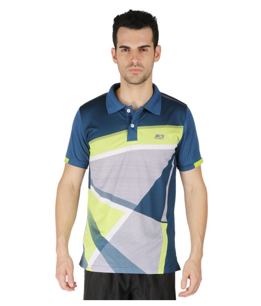 Vector X Blue Polyster Polo T-Shirt