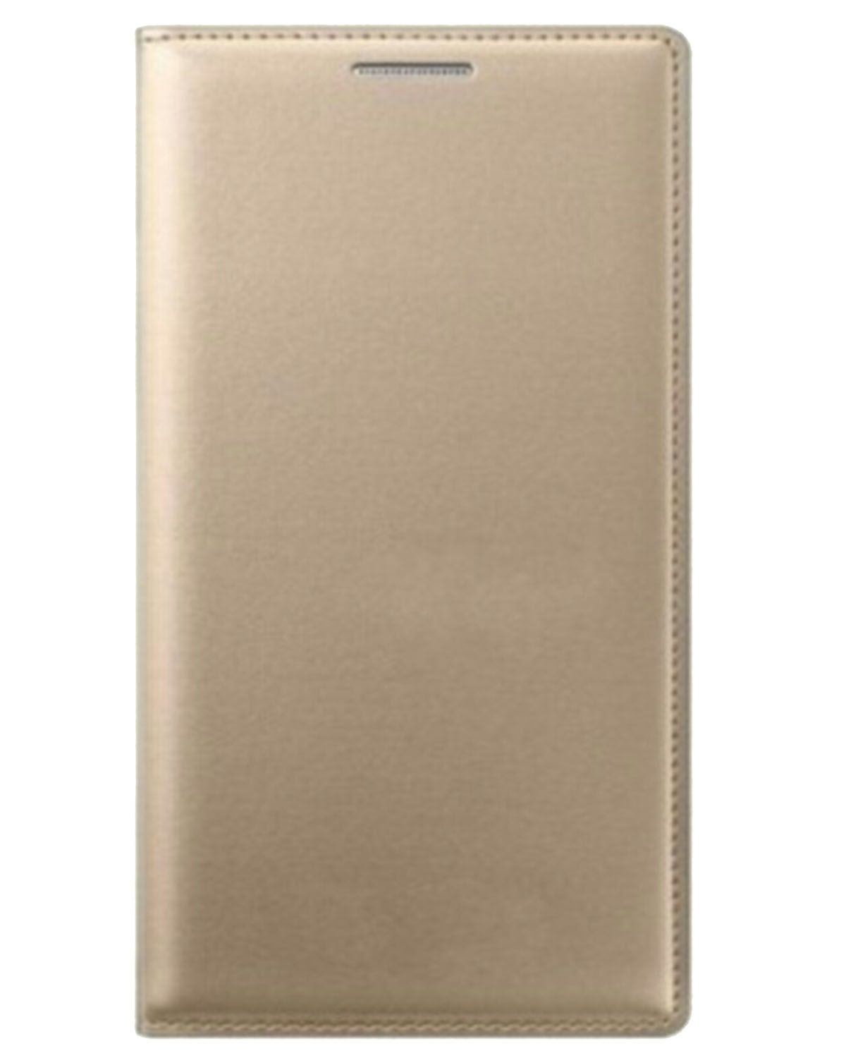 Samsung Galaxy On5 Flip Cover by Alike - Golden