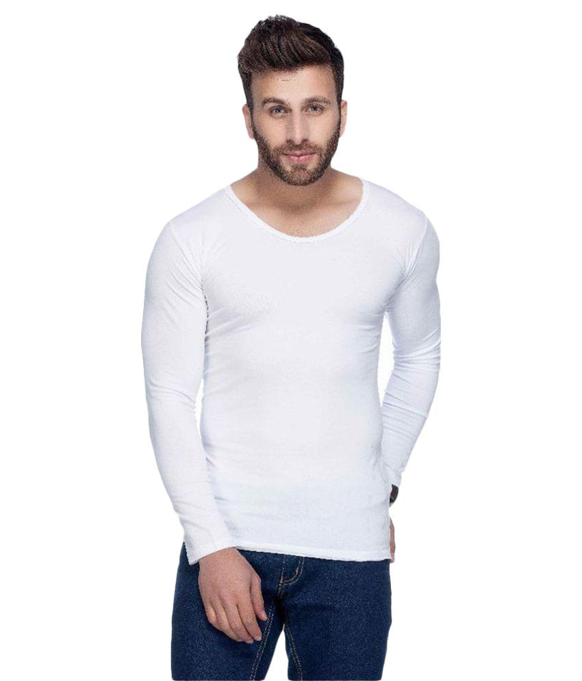 Tinted White Round T-Shirt