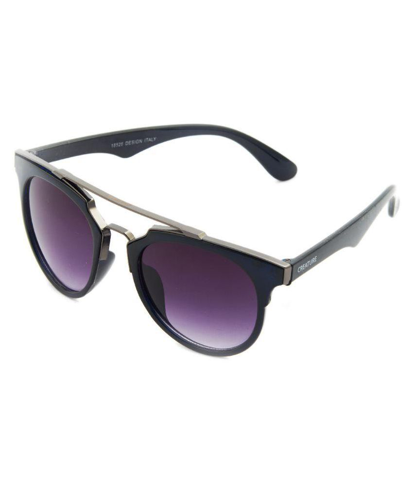 Creature Purple Wayfarer Sunglasses ( bns-102 )