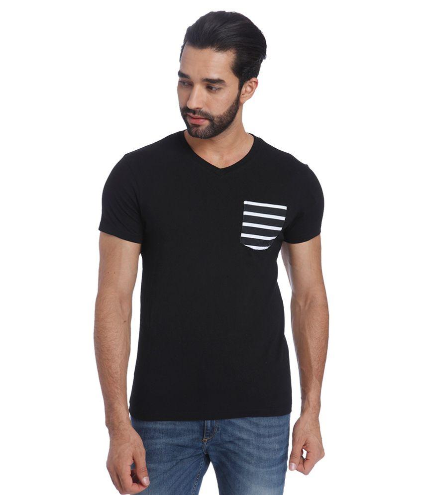 Jack & Jones Black V-Neck T Shirt